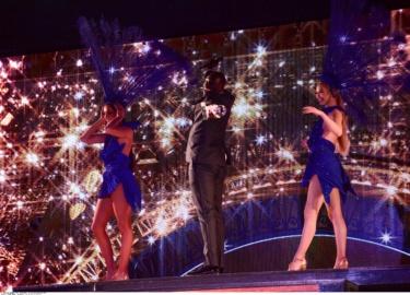 Omar Sy, Meilleur Acteur lors de la Ceremonie des Globes de Cristal, diffusee sur C8 en direct du LIDO. 30/01/2017 - paris, FRANCE//GHNASSIA_GHN001-106/Credit:GHNASSIA/PJB/BENHAMOU/SIPA/1701310254